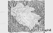 Gray Panoramic Map of Zhongdian