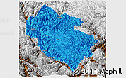 Political Panoramic Map of Zhongdian, physical outside