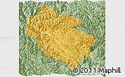 Savanna Style Panoramic Map of Zhongdian