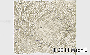 Shaded Relief Panoramic Map of Zhongdian