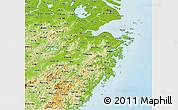 Physical 3D Map of Zhejiang