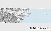 Gray Panoramic Map of Cangnan