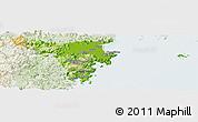 Physical Panoramic Map of Cangnan, lighten
