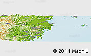Physical Panoramic Map of Cangnan