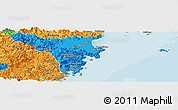 Political Panoramic Map of Cangnan