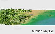Satellite Panoramic Map of Cangnan