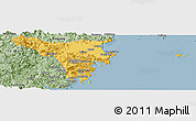 Savanna Style Panoramic Map of Cangnan