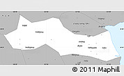 Silver Style Simple Map Of Huangyan - Huangyan map