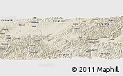 Shaded Relief Panoramic Map of Jiyun