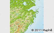 Physical Map of Zhejiang