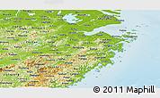 Physical Panoramic Map of Zhejiang