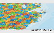 Political Panoramic Map of Zhejiang