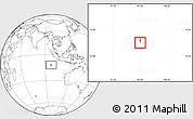 Blank Location Map of Cocos (Keeling) Islands