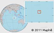Gray Location Map of Cocos (Keeling) Islands