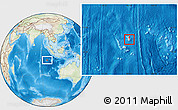 Physical Location Map of Cocos (Keeling) Islands, lighten, land only