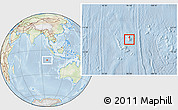 Physical Location Map of Cocos (Keeling) Islands, lighten