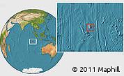 Satellite Location Map of Cocos (Keeling) Islands