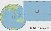 Savanna Style Location Map of Cocos (Keeling) Islands