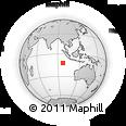 Outline Map of Cocos (Keeling) Islands
