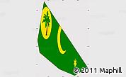 Flag Simple Map of Cocos (Keeling) Islands