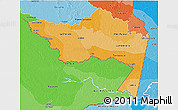 Political Shades 3D Map of Amazonas