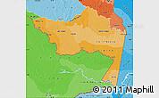 Political Shades Map of Amazonas