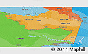 Political Shades Panoramic Map of Amazonas