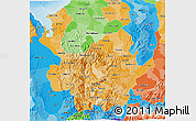 Political Shades 3D Map of Antioquia