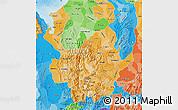 Political Shades Map of Antioquia
