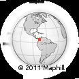 Outline Map of Medellin