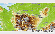 Physical Panoramic Map of Antioquia
