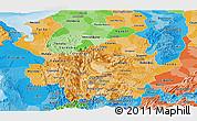 Political Shades Panoramic Map of Antioquia