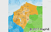 Political Shades Map of Atlantico