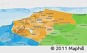 Political Shades Panoramic Map of Atlantico