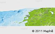 Physical Panoramic Map of Cartagena (Dist. Esp.)
