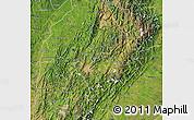 Satellite Map of Boyaca