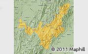 Savanna Style Map of Boyaca