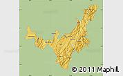 Savanna Style Map of Boyaca, single color outside