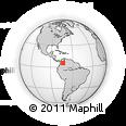 Outline Map of Boyaca