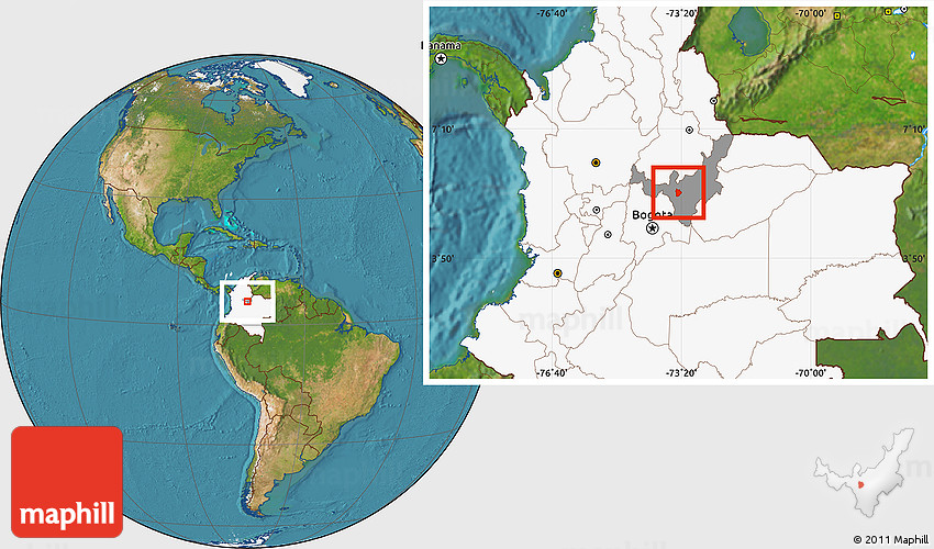 Satellite Location Map Of Tunja Highlighted Country Highlighted - Tunja map