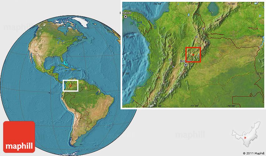 Satellite Location Map Of Tunja - Tunja map