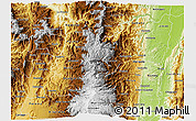 Physical 3D Map of Caldas