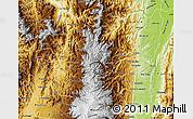 Physical Map of Caldas