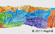 Political Shades Panoramic Map of Caldas