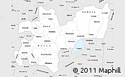 Silver Style Simple Map of Caldas