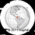 Outline Map of Casanare