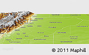 Physical Panoramic Map of Casanare