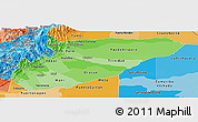 Political Shades Panoramic Map of Casanare