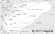 Silver Style Simple Map of Casanare