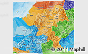 Political Shades 3D Map of Cauca